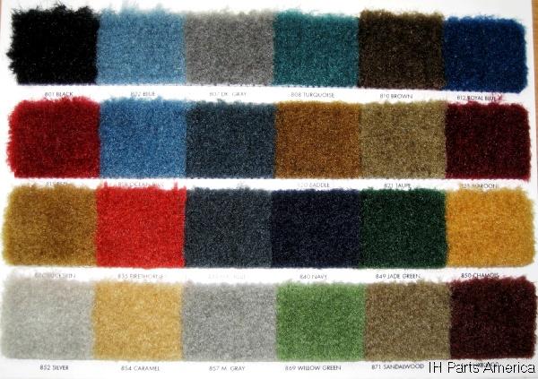 1974-80 International Scout II Molded Cargo Area Cut-pile Carpet!
