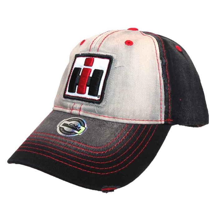 eac849c1 International Harvester Youth Distressed Black, White & Red Logo Cap - IH  Parts America