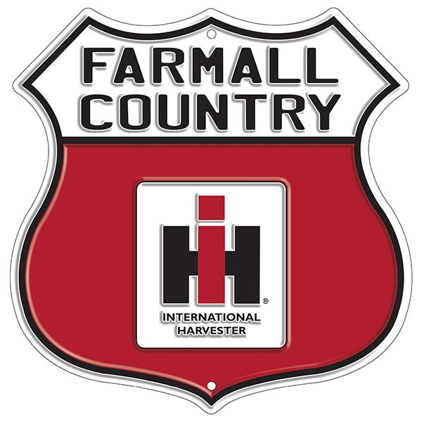 International Harvester Logo >> Farmall Country W International Harvester Logo Embossed Highway Tin Sign