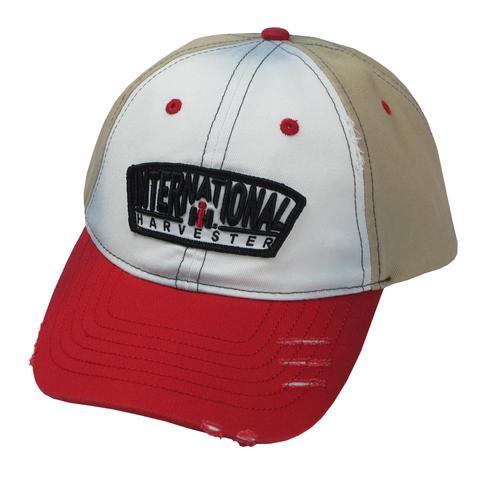 48057973 IH Applique Logo White, Red, & Khaki Cap - IH Parts America