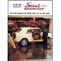1967 ih international harvester scout 800 sport-top color sales brochure