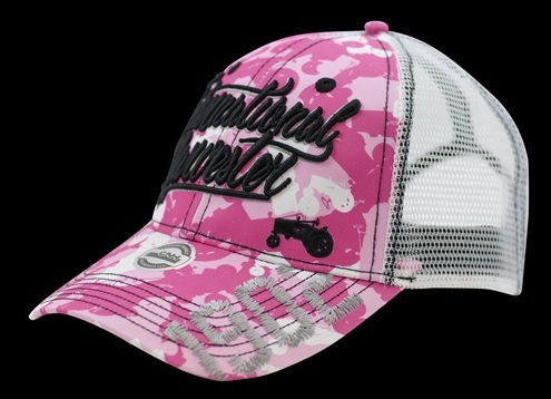 International Harvester Women s Pink Tractor Camo Script Logo Cap - IH  Parts America e970c1e9d2bd